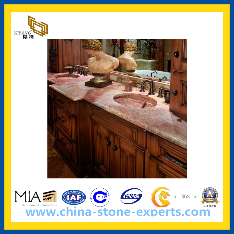 Genial Natural Stone Red Marble Coral Red Slabs Countertops(YQG MC1004)