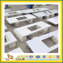 China White Man-Made Quartz Vanity Tops(YQA-QC1005)