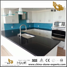 Prefab Sparke Black Quartz Countertop for Project