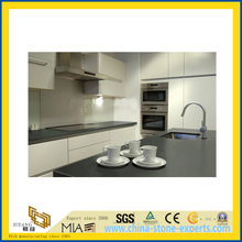 Artificial Polished Grey Quartz Countertop for Kitchen/Hotels/Commercial Projects (YQC)