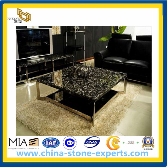 Black Fossil Marble Table Top YQAMC Buy Marble Table Top - Cost of marble table top