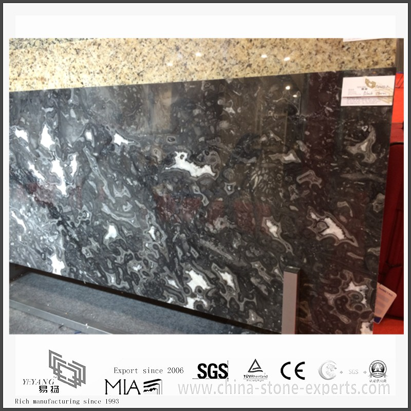 Diy New Black Storm Marble for Flooring or Wall Tiles (YQW-MS331202 ...