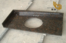 China Tan Brown Granite Bathroom Vanity Tops for Hotel Decor (YQW-11024C)