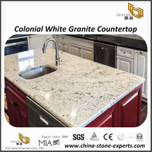 Brilliant Colonial White granite tops for commercial & residential project