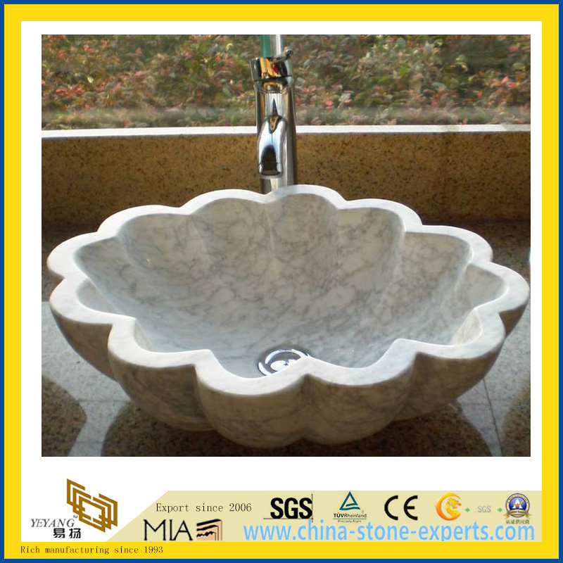 Prefabricated Natural Calacatta White Marble Vanity Top/Countertop For  Bathroom/Kitchen