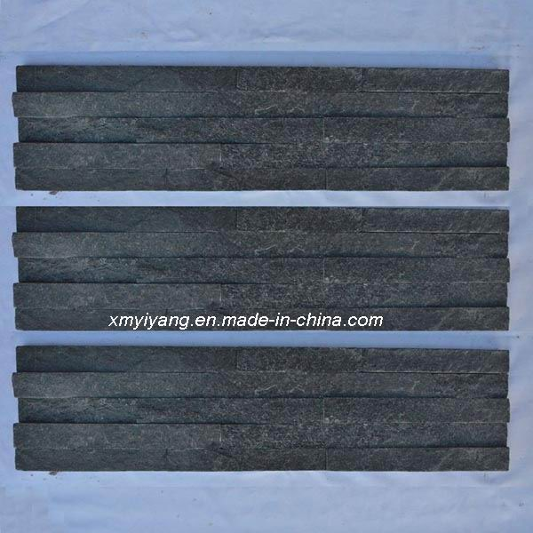Black Slate Tile Stack Stone For Wall Cladding