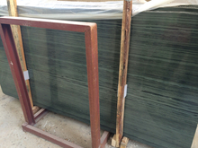 Wooden Green Marble Slab for Floor and Tile