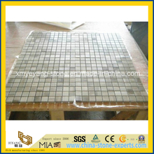 White Wooden Marble Mosaic for Floor or Wall Decoration