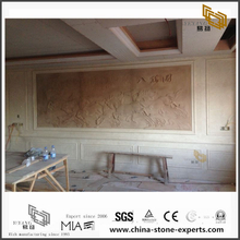 Customized Different Marble Backgrounds for Bathroom Design (YQW-MB0726019)
