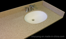 Yellow Quartz Bathroom Vanity Top