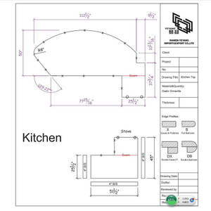 Kitchen Countertops CAD drawing from YEYANG