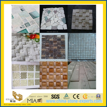 Mix Color Polished Natural Stone Marble Mosaic Tile for Floor/Wall
