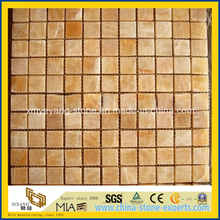 Natural Yellow Honey Onyx Mosaic Tile for Wall Decoration
