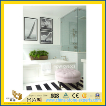 White Artificial Quartz Bath Vanity Tops for Home, Hotel