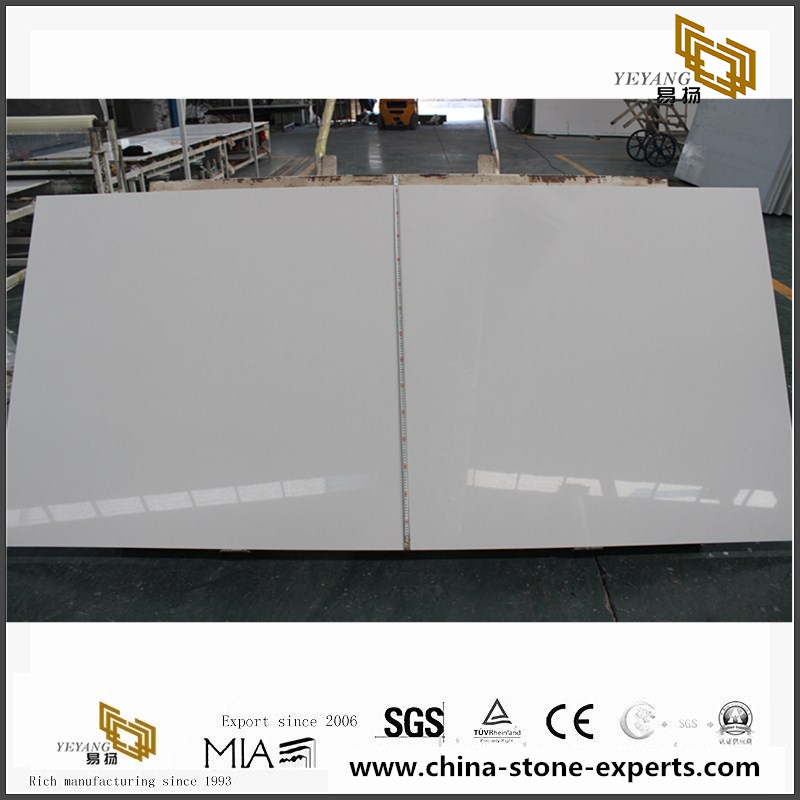 Superieur Man Made White Quartz Slabs For Countertops (CR120)
