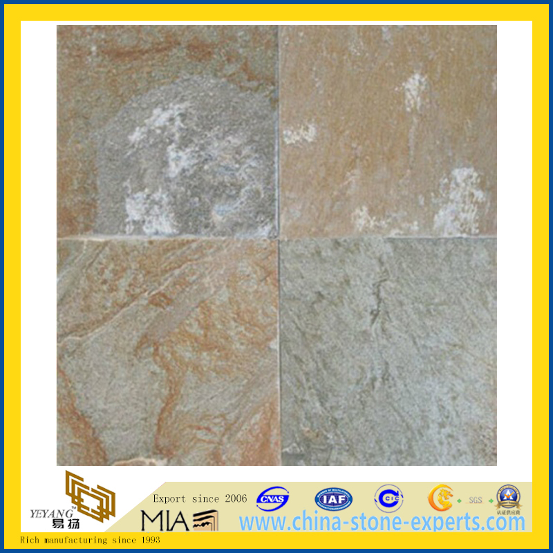 Building Material Natural Rusty Slate Floor Tiles For Decoration