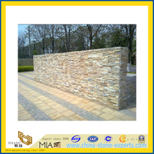 Popular Yellow Culture Stone for Landscaping Wall (YQA-S1052)