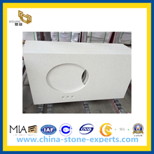 White Quartz Stone Vanity Tops of Yq-090d Quartz (YQG-CV1026)