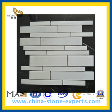 Honed White Marble Stone Mosaic Tile for Outdoor Landscape Wall (YQZ-M1013)