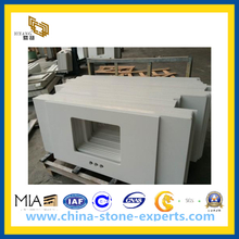 White Quartz Stone Countertop for Project(YQG-CV1024)