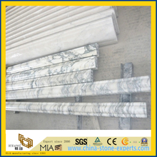 Arabescato White Marble Skirting Line or Border Line