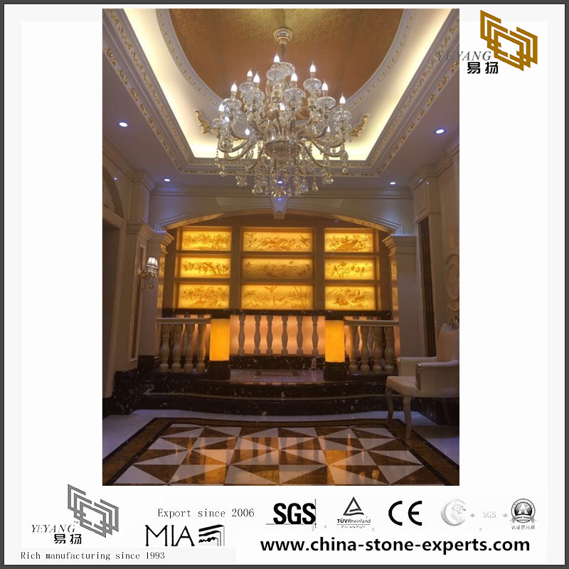 Red Marble Stone Background For Bathroom Design (YQW MB081506)