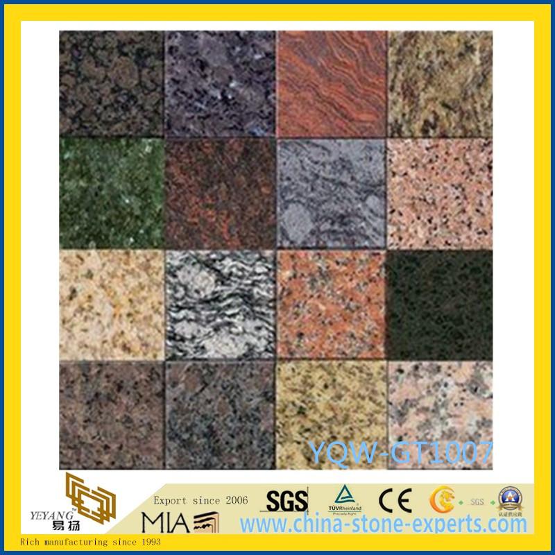 Sgs Polished Stone Granite Marble Floor Tile For Bathroom